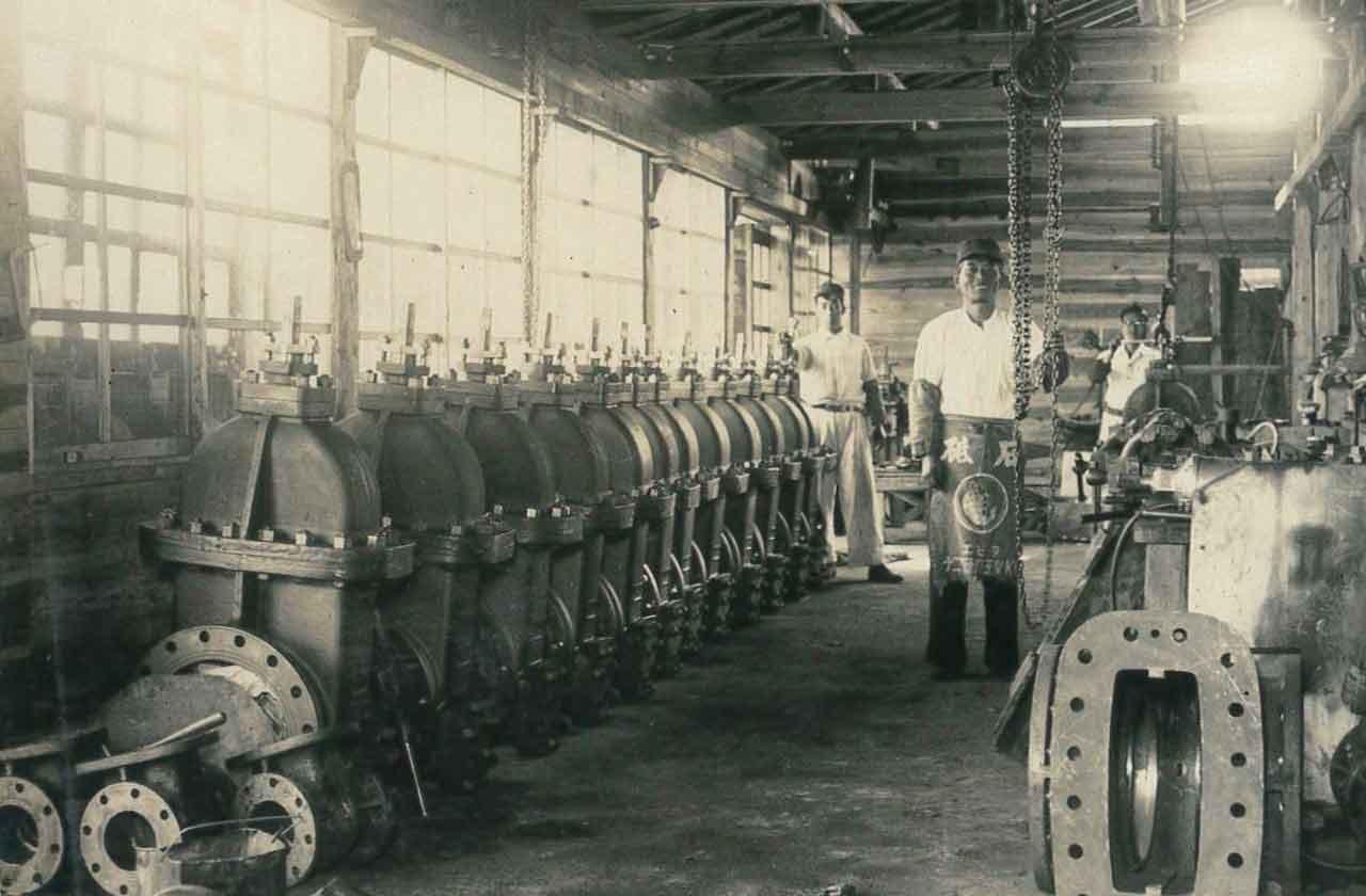 昭和20~30年代 工場風景(彦根市芹町)