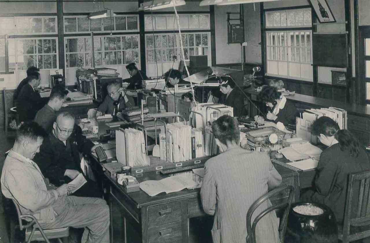 昭和20~30年代 事務所風景(彦根市芹町)