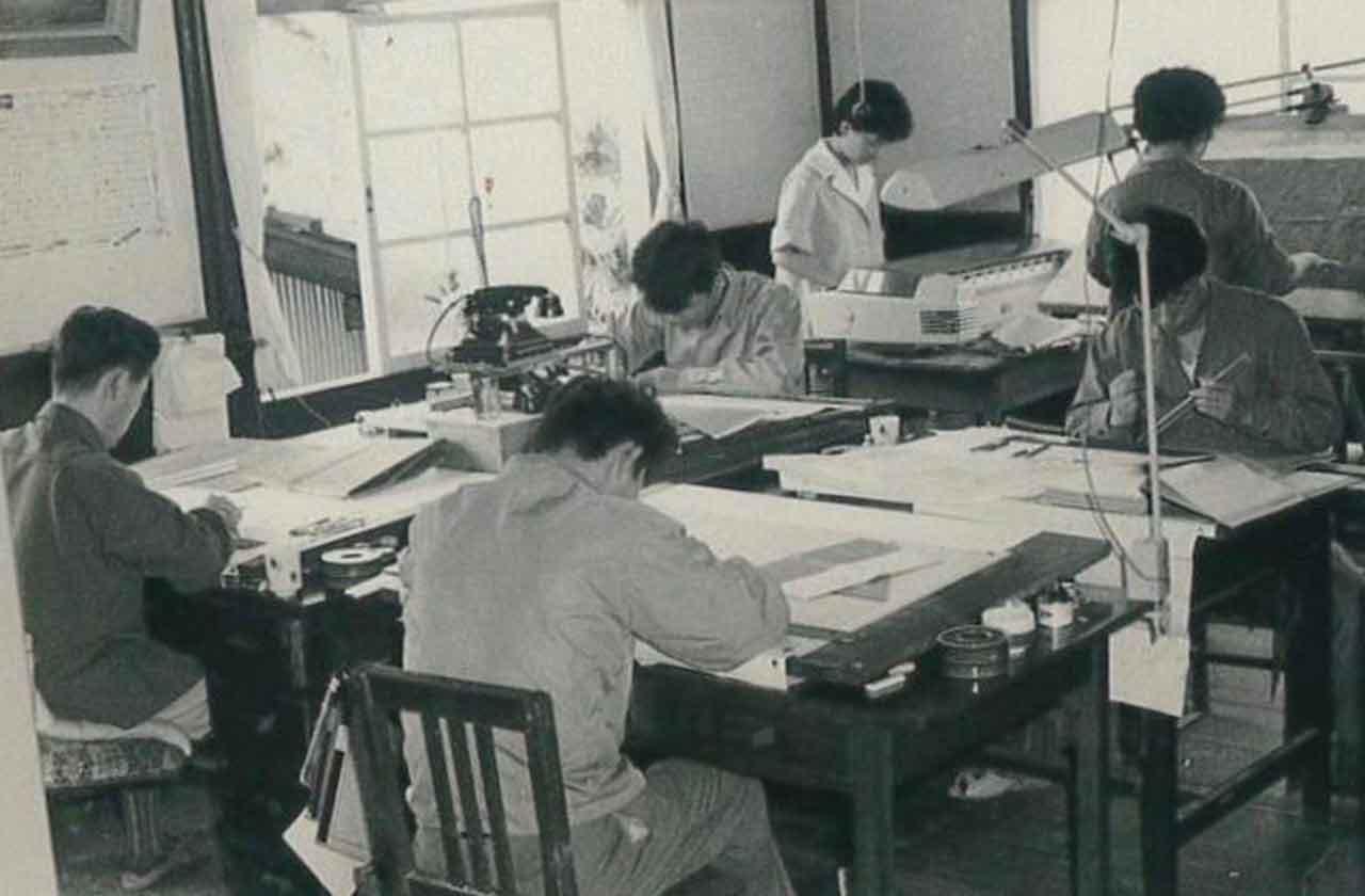 昭和20~30年代 事務所[設計]風景(彦根市芹町)